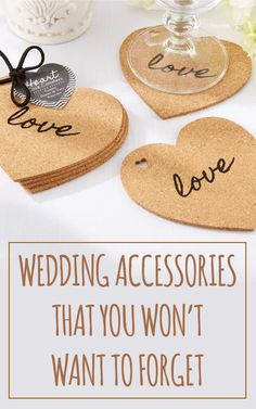 """Wedding guests will love to toast to your big day with these take-home coasters. Each Cork Coaster Wedding Favor features a heart-shaped cork coaster, with the word """"love"""" written inside of each heart. Cheap Favors, Wedding Favors Cheap, Beach Wedding Favors, Destination Wedding, Wedding Invitations, Wedding Ideas, Wedding Event Planner, Wedding Events, Wedding Receptions"""