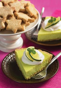 Margarita Pie, with a good-luck four-leaf clover for St. Patrick's Day!