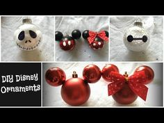 Come and check out some of The Best DIY Dollar Store Christmas Ornament Hacks EVER! All are fabulous and so incredibly budget friendly! Disney Christmas Decorations, Disney Christmas Ornaments, Dollar Store Christmas, Christmas Crafts, Christmas Ideas, Mickey Christmas, Christmas Stuff, Holiday Ideas, Xmas