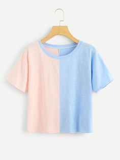 Soft, comfortable tees are an essential for every stylish closet! Find quality basic tees, graphics, crop tees, and more at ROMWE. Unique Outfits, Cute Casual Outfits, Ropa Color Pastel, Crop Top Shirts, Kawaii Clothes, Teen Fashion Outfits, Kawaii Fashion, Looks Style, Aesthetic Clothes