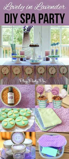 Lovely in Lavender DIY Spa Party Idea. Fun theme if you're hosting an adult birthday party for the ladies!