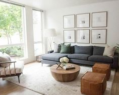 Living Room Pouf, Living Room Sectional, Living Room Grey, Home Living Room, Sectional Sofas, Living Room Ideas With Grey Couch, Charcoal Sofa Living Room, Modern Sectional, Rustic Modern Living Room