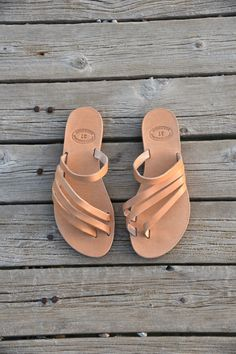 Slip on Greek Sandals Leather Sandals Roman by madammeshushu