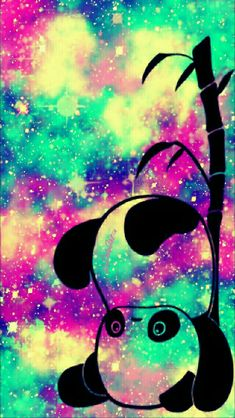 Topsy Turvy panda iPhone/Android galaxy wallpaper I created for the app CocoPPa!!