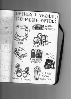 camera #cofee #coffee #draw #motivation #movie #picture #shoes #sport #tea