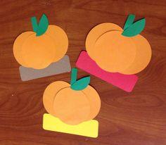 Easy fall pumpkin door decs