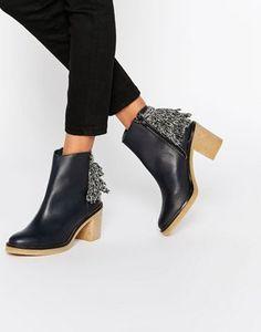 Miista Brianna Heeled Leather Ankle Boots
