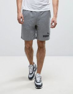 Ess No.1 Sweat Shorts In Gray 838261 03 - Gray