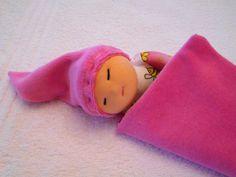 Doudou plat d'inspiration Waldorf couleur rose tortues : Jeux, jouets par petites-chiffonneries