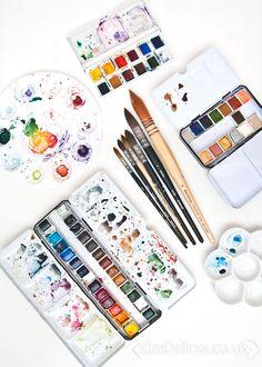 Art Hoe Aesthetic, Art Pictures, Photos, Art Studios, Art Supplies, Art Inspo, Watercolor Art, Book Art, Art Photography