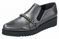 Dámské nízké boty z pravé kůže HEINE - stříbrná