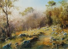 Tony Xu Min Watercolor Landscapes With Structures