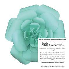 Molde de Pétalas para Criar Flores Gigantes   Pétala Arredondada