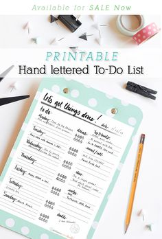 Hand lettered to do list - Delineate Your Dwelling