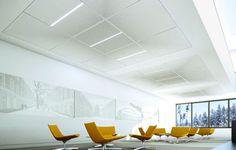 Faux-plafond acoustique / en laine de roche / en dalle PIX by Hadi Teherani Odenwald Faserplattenwerk