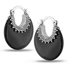 M by Miadora Sterling Silver Black Onyx Earrings with Bonus Earrings | Overstock™ Shopping - Top Rated Miadora Gemstone Earrings