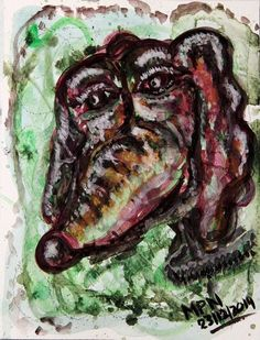 """""""Homage to X-Calibur - A Fine Dachshound"""" Painting by mimulux posters, art prints, canvas prints, greeting cards or gallery prints. Find more Painting art prints and posters in the ARTFLAKES shop. Neo Expressionism, Outsider Art, Dark Art, Fine Art America, Original Art, Art Prints, Weiner Dogs, Dachshunds, Gouache"""