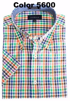 Men's fashions at The Abbey Button-Down Colla... Check it out here http://theabbeycollection.ca/products/button-down-collar-short-sleeve-madras-plaid-sport-shirt-by-viyella?utm_campaign=social_autopilot&utm_source=pin&utm_medium=pin