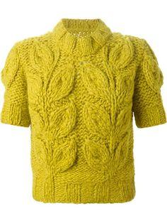 shortsleeved chunky sweater