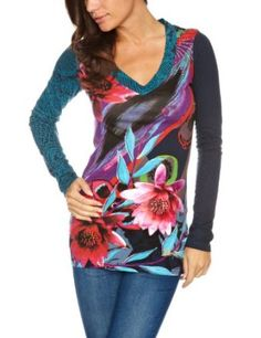 Desigual Calantma Patterned Women's T-Shirt #womanstshirt#patternedwomenstshirt £55.10 - £59.00