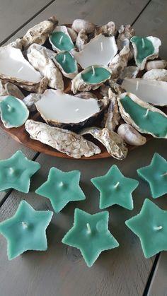 Kaarsen maken, oesterschelpen en sterren