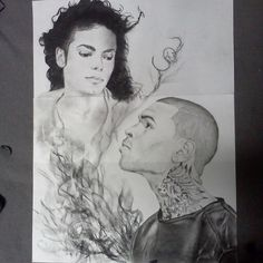 Chris brown drawing color art artsy pinterest chris brown my drawing of michael jackson and chris brown instagram aminaartistic altavistaventures Images