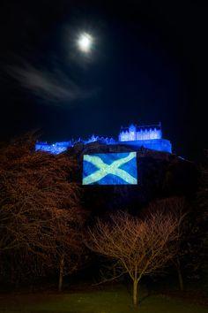 Edinburgh Castle on St. Andrews Day