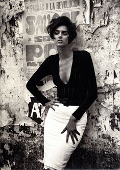 Heather Stewart-Whyte by Jacques Olivar for Marie Claire France, September 1991.