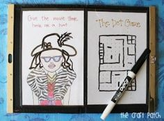Great Idea - The Craft Patch: Photo Clutch Dry Erase Quiet Book Summer Activities For Kids, Book Activities, Toddler Activities, Diy Crafts For Kids, Craft Ideas, Kits For Kids, Kids Church, Book Projects, Business For Kids