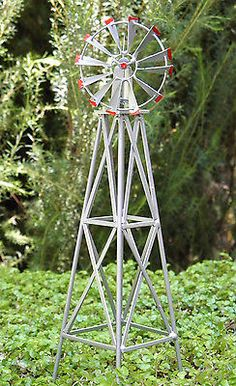 Miniature #dollhouse #fairy garden accessories ~ iron #windmill ~ new,  View more on the LINK: http://www.zeppy.io/product/gb/2/261762380150/