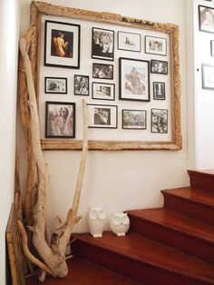 Another idea on how to display photos or art. desire to inspire - desiretoinspire.net - Reader's home - Laure's jaw-droppingviews