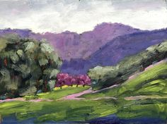 BRIONES REGIONAL PARK,  9 x 12, oil painting, plein air, painting, original, purple, Landscape  by honeys treasures, plein air artist, plein air, art, artist, california artist, walnut creek, concord, contra costa county, contra costa