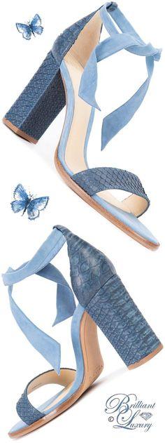 Brilliant Luxury by Emmy DE ♦ Alexandre Birman Lace-Up Ankle Sandals