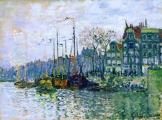 Claude Monet, «View of the Prins Hendrikkade and the Kromme Waal in Amsterdam»