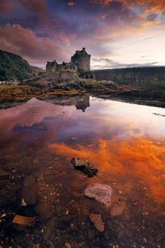 """Castle in the Sky"" by Alberto Segramora, Eileen Donan Castle, Scotland"