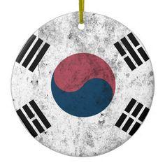 korea korea 한국 national flag 한글 Taegeukgi vintage Ceramic Ornament - home decor design art diy cyo custom