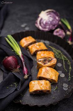 Winter Gemüsestrudel Veggie Dishes, Frittata, International Recipes, Creative Food, Low Carb, Easy Peasy, Food Porn, Good Food, Veggies
