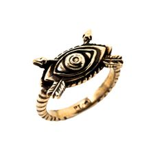 Oculus Arrow Ring - bronze - gifts under $200