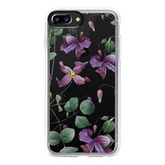 Vintage Botanical - Wild Flowers - iPhone 7 Plus Case And Cover (536.080 IDR) ❤ liked on Polyvore featuring accessories, tech accessories, iphone case, iphone cases, clear flower iphone case, flower iphone case, vintage iphone case and clear floral iphone case
