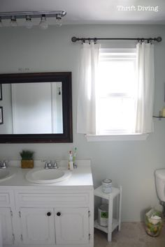 How to Paint a Bathroom Vanity - Thrift Diving Blog6656