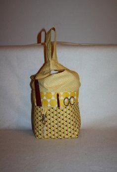 Aufbewahrung - Strick - Beutel, Handarbeitskorb Knotentasche ETSY - ein Designerstück von Kaepseles bei DaWanda