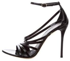 107908c3fb5 Brian Atwood Patent Leather Multistrap Sandals Brian Atwood