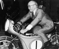 Soichiro Honda as the founder of the Honda Company. However, Soichiro Honda was also the man who changed the view on the traditions of running a business . Classic Honda Motorcycles, Racing Motorcycles, Classic Motorcycle, Honda Motors, Honda Bikes, Soichiro Honda, Honda Cub, Motorcycle Manufacturers, Motorcycle Girls