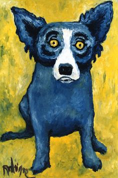 """prepinthewest: Another painting of """"blue dog,""""..."""