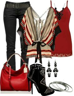 A fashion look from January 2013 featuring Lotta Stensson tops, BKE tops and Pierre Balmain jeans. Browse and shop related looks. Mode Outfits, Fall Outfits, Summer Outfits, Casual Outfits, Fashion Outfits, Womens Fashion, Fashion Trends, Look Fashion, Winter Fashion