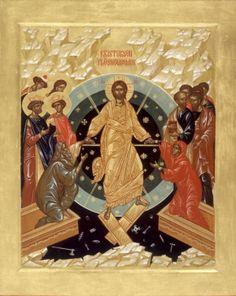 DROGA IKONY - warsztaty ikonopisania / The Way of Icon - Iconography workshop: marzec 2013 Christ Is Risen, He Is Risen, Orthodox Icons, Christianity, Mandala, Workshop, Illustration, Painting, Ethereal