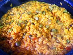 How to Make Puerto Rican Arroz con Gandules in a Rice Cooker (Rice with Pigeon Peas)-to go with my Pernil!