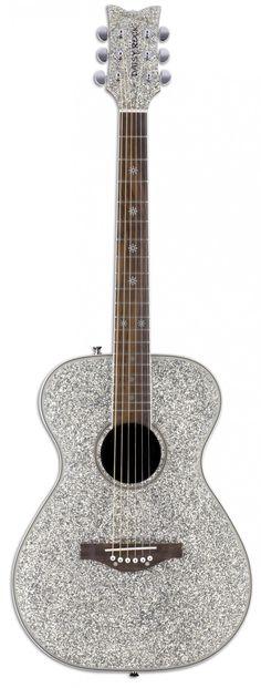 Pixie Acoustic Silver Sparkle | Daisy Rock Guitars the Girl Guitar Company