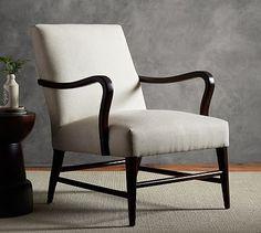 Emilia Upholstered Armchair #potterybarn