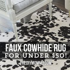 I really wanted a cowhide rug for our sitting room, but just couldn't afford a…